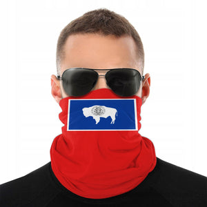 Wyoming Flag America USA Face Scarf