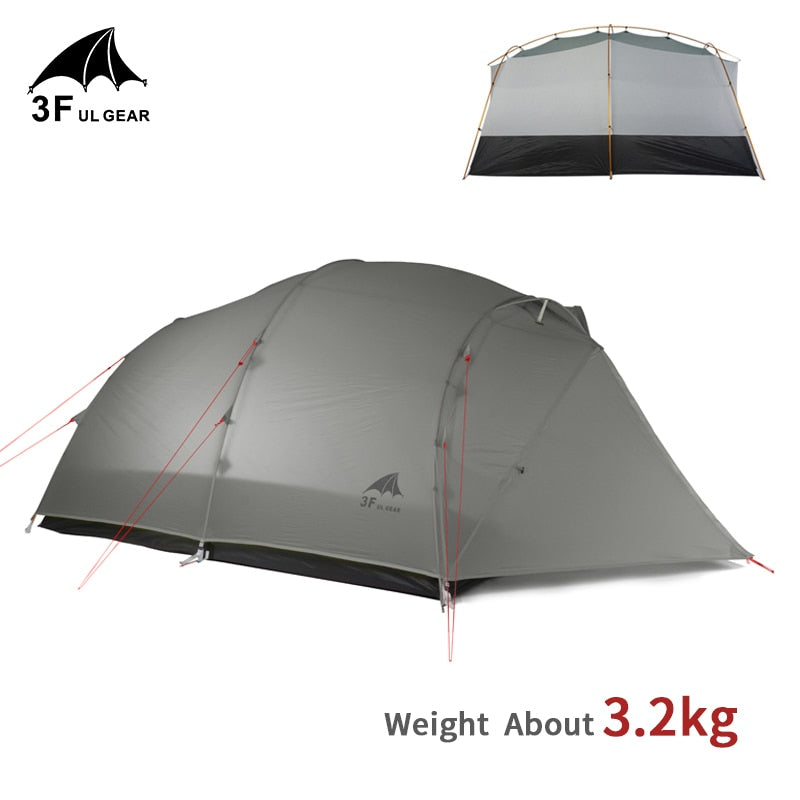 3F UL GEAR QingKong 4 Person Ultralight Tent 15D/210T Large Space