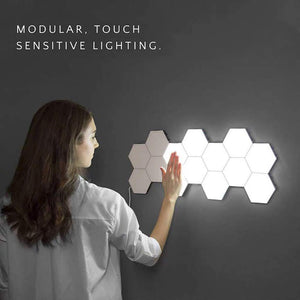 Touch Wall Lamp Creative Honeycomb Modular Assembly Helios Quantum lamp LED Magnetic decoration Wall Light Bedroom Lamp