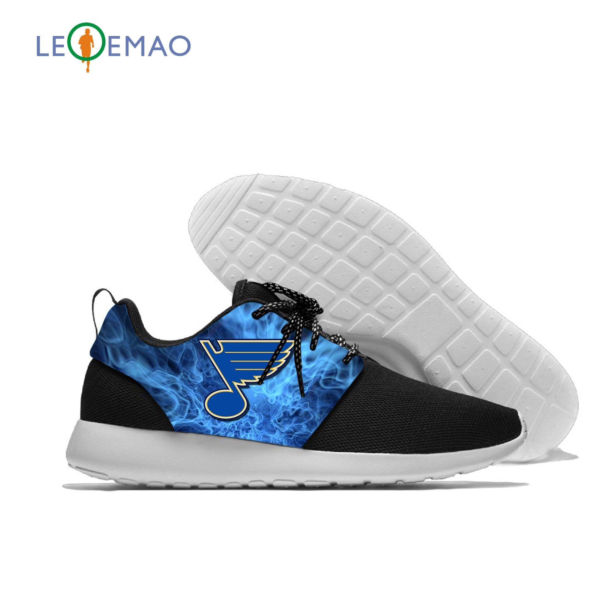 Blues Breathable Leisure Sport Sneakers St.Louis Baseball Team Fans Lightweight Casual Men/Women Running Mesh Shoes
