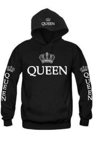 New Couple Matching Hoodie King and Queen-Love Matching Letter Printing Hooded Sweatshirts