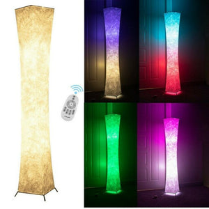 MGlobal LED Lamp with 2 Bulbs RGB Color Changing Remote Standing Light Living Room, Multi Color