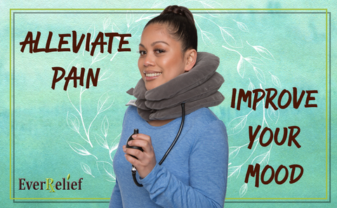 EverRelief Cervical Neck Traction Device will alleviate your pain and improve your mood