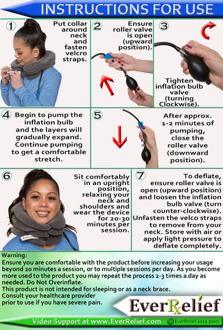 EverRelief Cervical Neck Traction Device Instruction Sheet