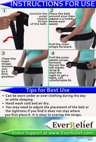 Sacroiliac Support Belt Instruction Sheet