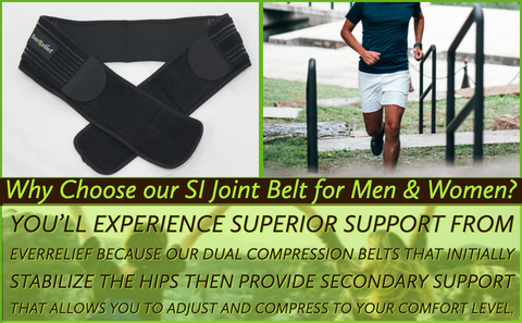 This fully adjustable hip support for men and women alleviates joint pain and the symptions of sciatica. This pelvic support belt will stabilize hips to reduce pain & inflammation & for lower back or sciatic pain relief. This serola sacroiliac belt supports the pelvis and si joint whenever you need extra support.