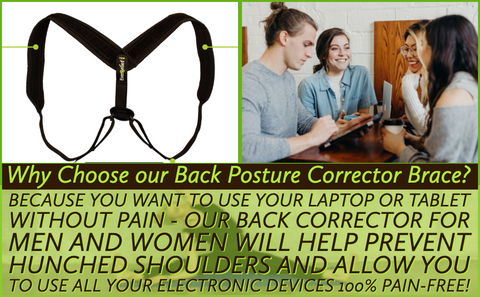 Do you have fatigue, collar bone, neck, back or shoulder pain and want to prevent slouching and hunching your shoulders? You need to comfortably realign your back muscles so you can sit for hours without straining your neck with a corrective posture back brace.