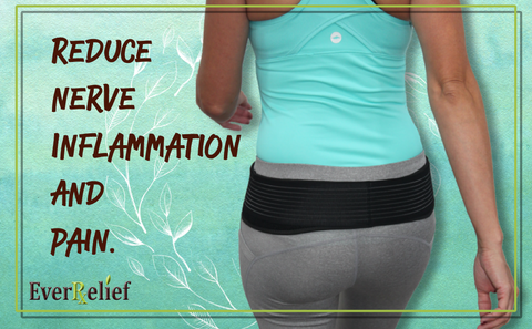Relieve pain and inflammation of sciatica with the EverRelief Sacroiliac Support Belt