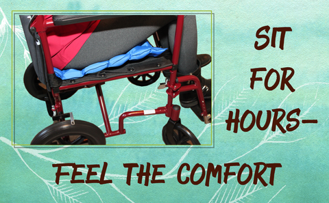 EverRelief Air Inflatable Seat cushion makes any seat more comfortable.
