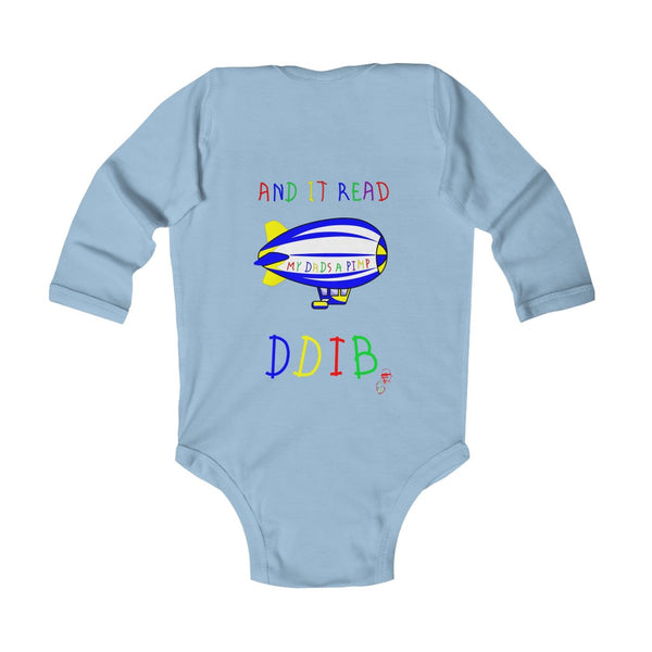 Soft DDIB Infant Baby Blue Bodysuit