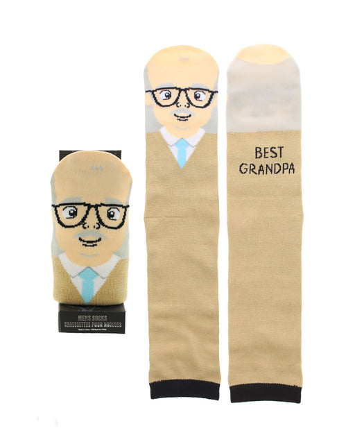Men's Character Casual Crew Socks w/ Gift Box - Best Grandpa