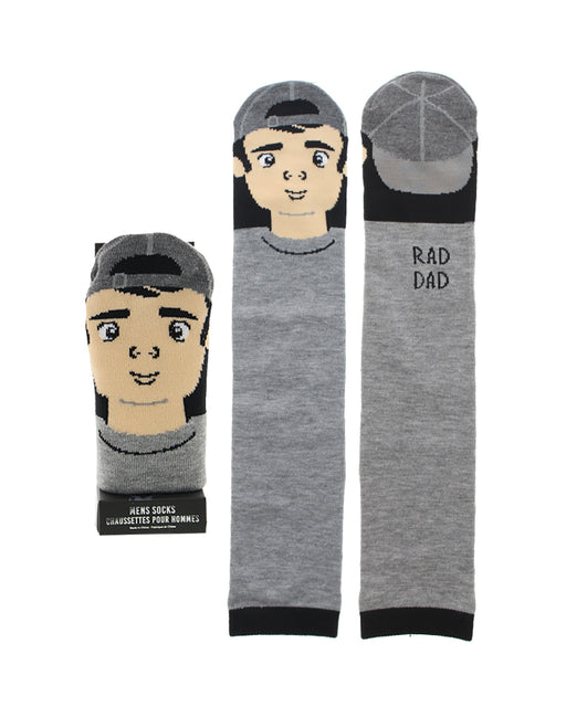 Men's Character Casual Crew Socks w/ Gift Box - Rad Dad
