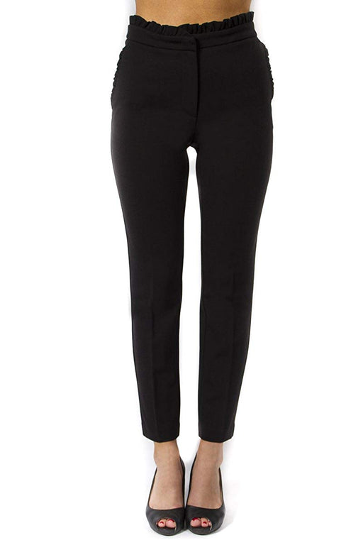 ONE by Chapter One Women's Black Ruffle Ponte Pant