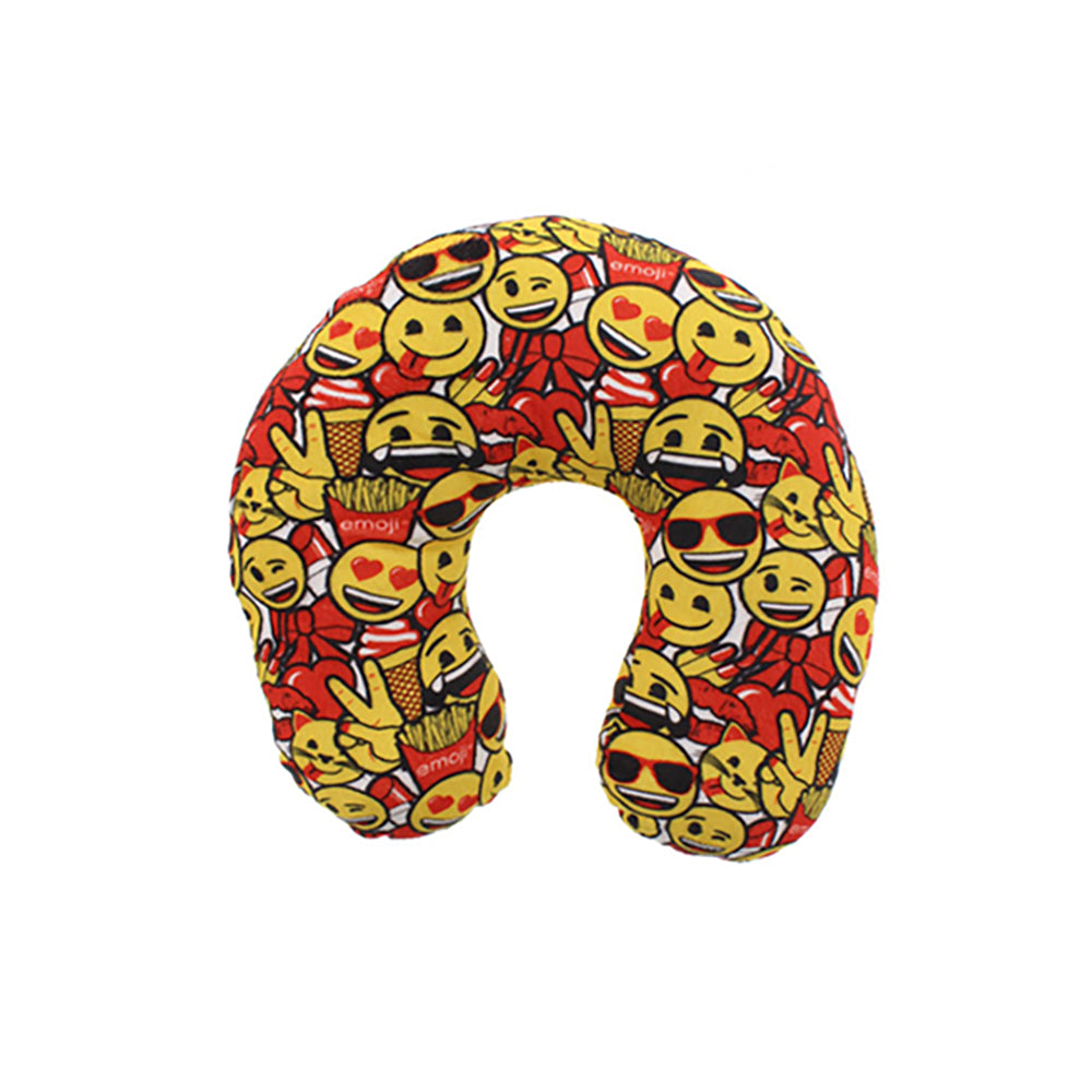 emoji Kids Neck Support Smiley Face Travel Pillow (Yellow)
