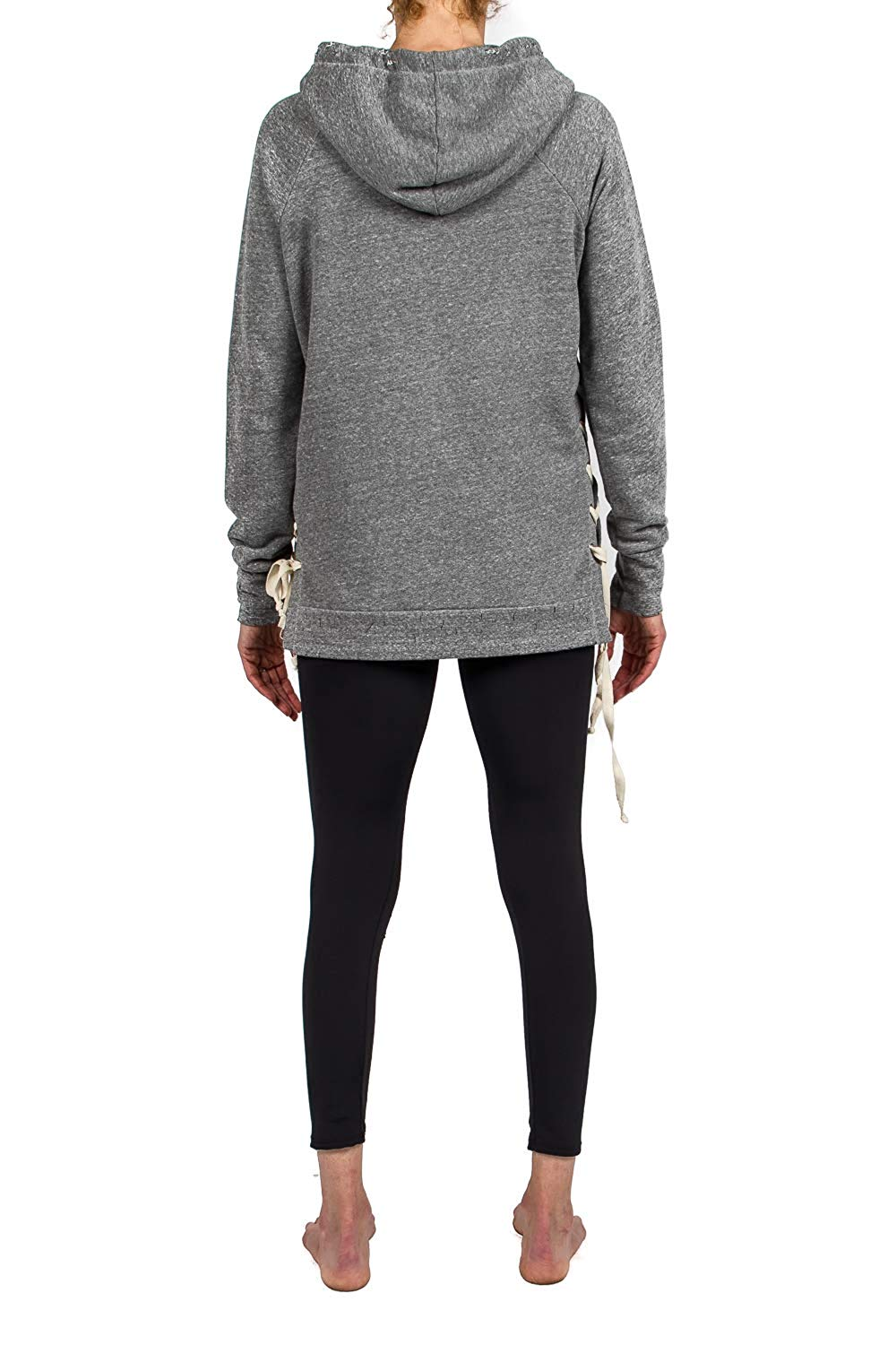 Black Orchid Lace Down Hoodie Sweatshirt - Small