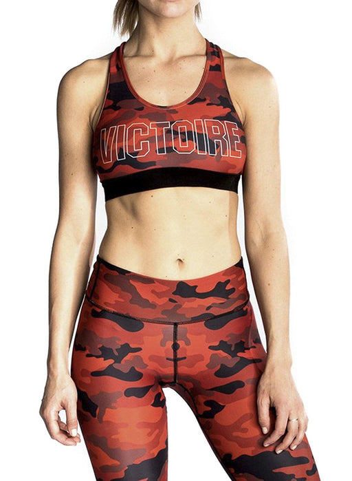 CHRLDR Victoire Red Camo Sports Bra