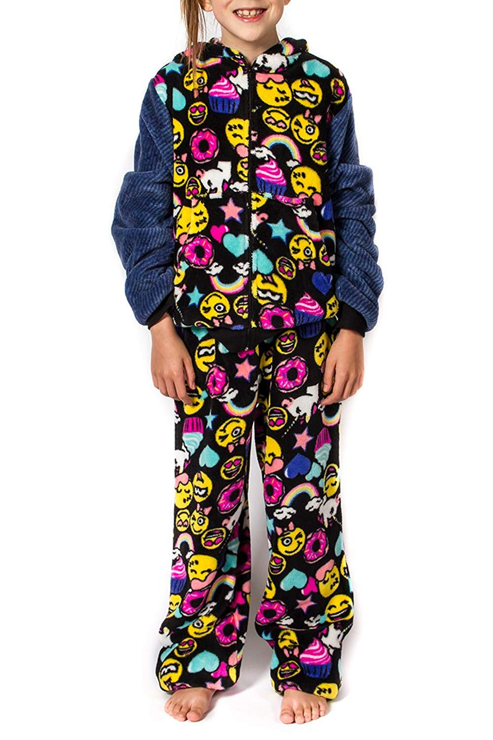5f4d75e95d Girl peace love fashion emoji pajama pants black hellogoodbuys jpg  1000x1500 Emoji pants