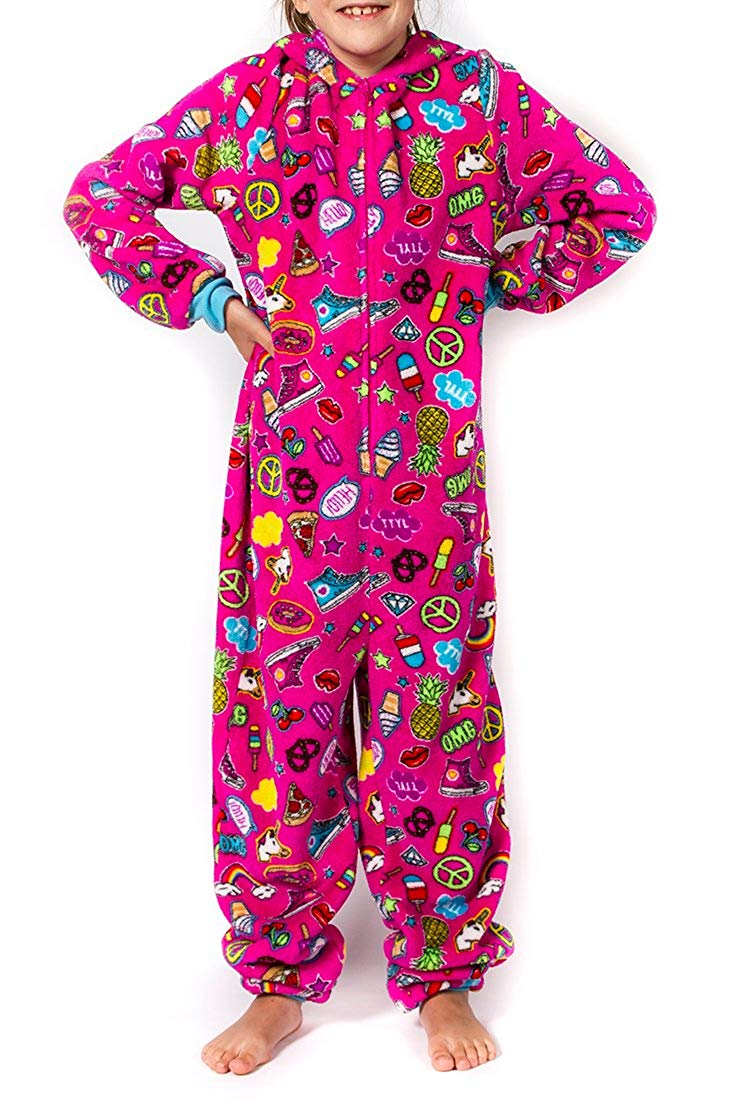 Girl's Peace Love & Fashion Emoji Onesies – Pink