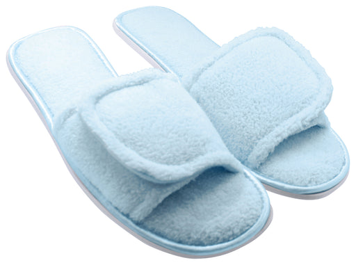 Women's Open Toe House Slippers with Anti-Skid Sole - Blue