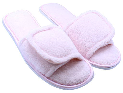 Women's Open Toe House Slippers with Anti-Skid Sole - Pink