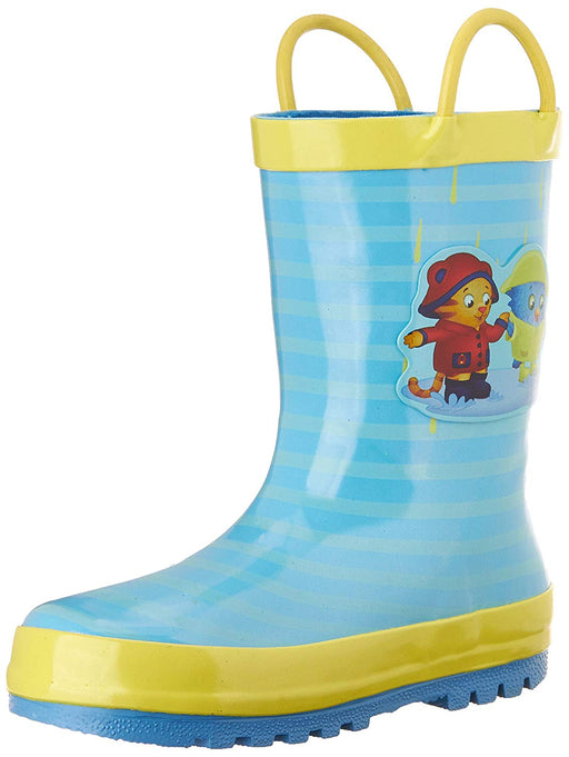 Daniel Tiger Kids' Rubber Rain Boot with Handles