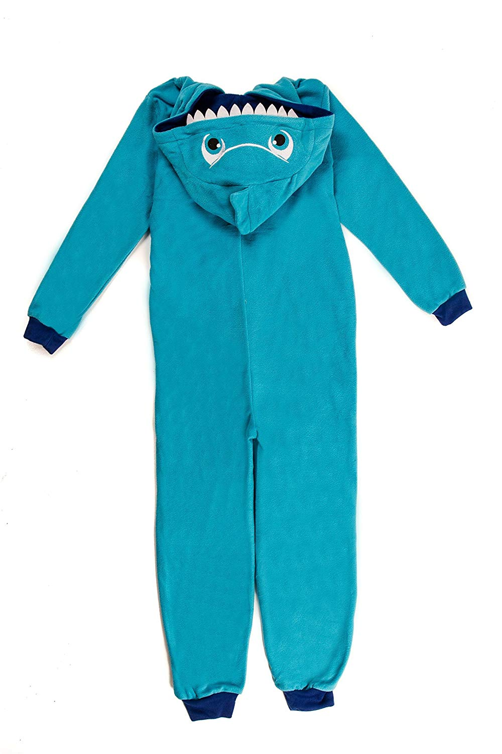 Dots & Dreams Kids Blue Shark Kigurimi Animal Hooded Onesie