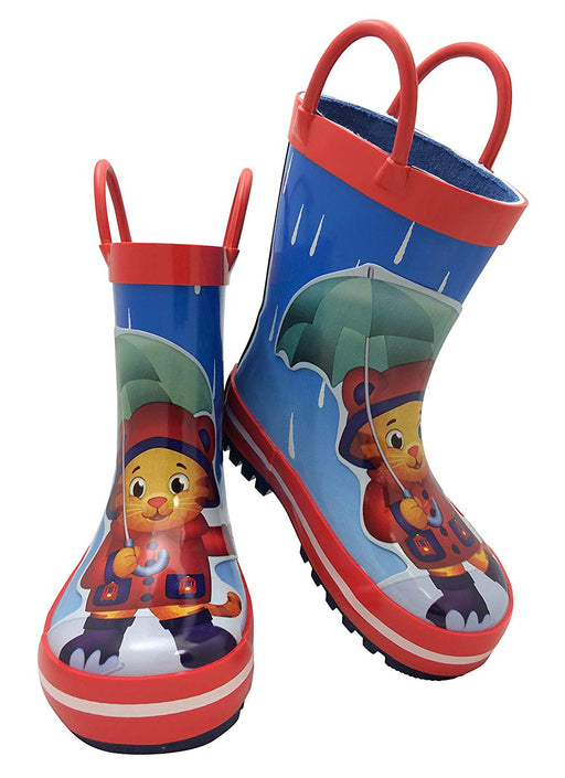 Daniel Tiger Toddler Boy Rubber Rain Boot with Handles