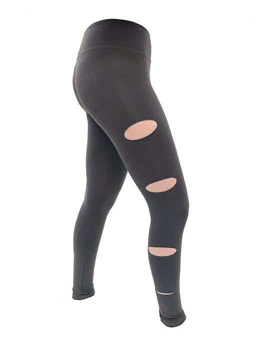 JALA Charcoal Slash Legging - X-Small