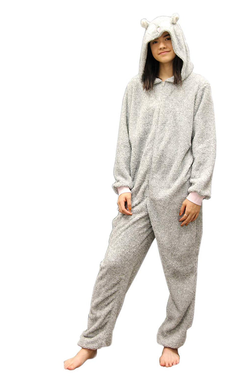 Women's Dots And Dreams Character Grey Owl Onesies Jumpsuit