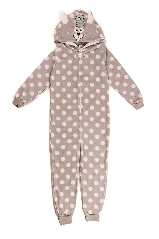 Girl's Dots & Dreams Grey Mouse Onesie Kigurumi Animal Pyjamas