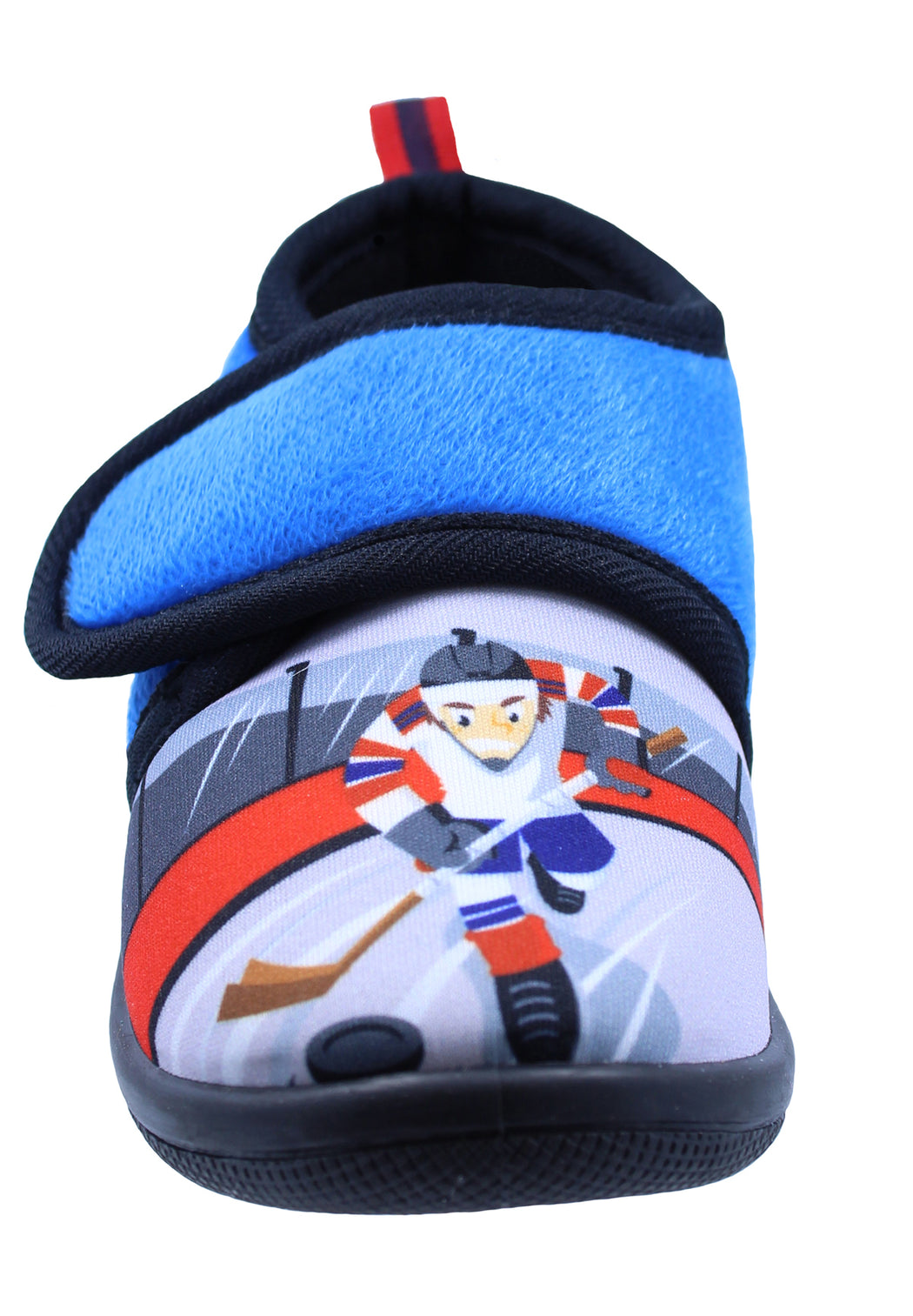 Toddler Boy's Hockey Daycare Slippers