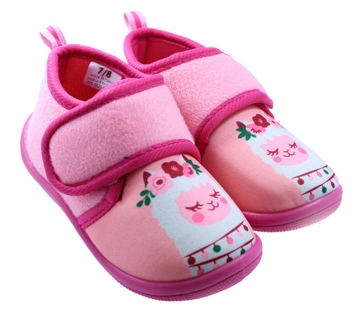 Toddler Girl's Llama Daycare Slippers