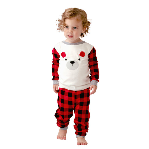 Baby Plaid Bear Pajamas 2 Piece Set