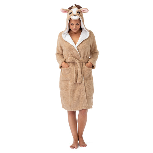 Reindeer Hooded Animal Bathrobe