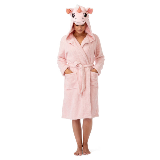 Unicorn Hooded Animal Bathrobe for Women