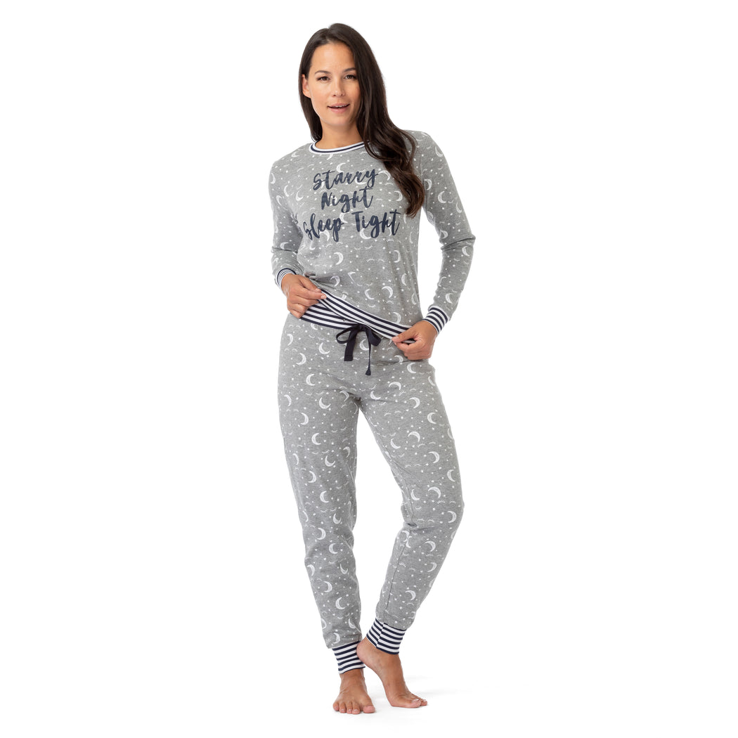 Long Sleeve Starry Night Pajama Set