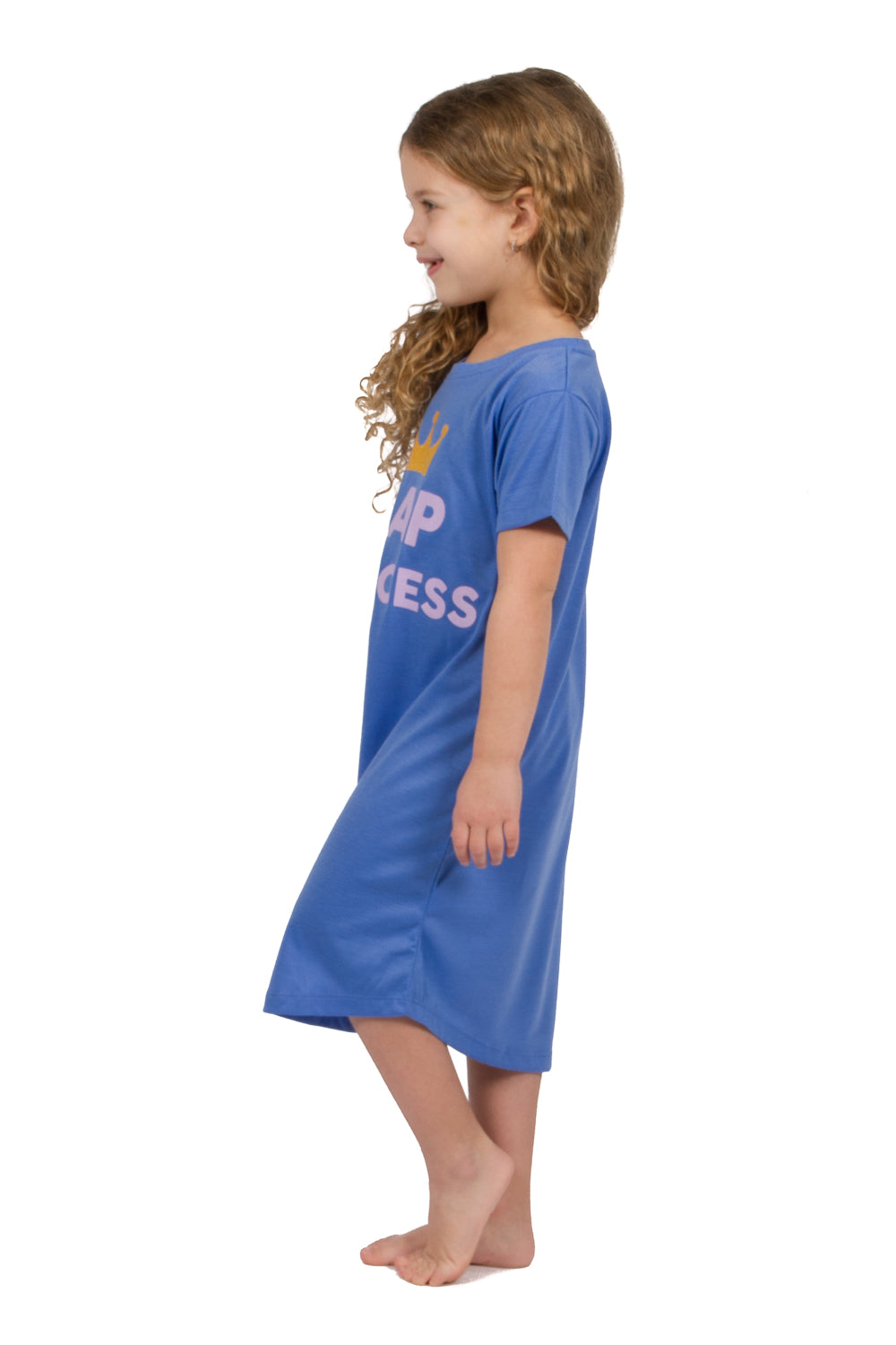 Mommy & Me Matching Short Sleeve Nightgowns - Blue