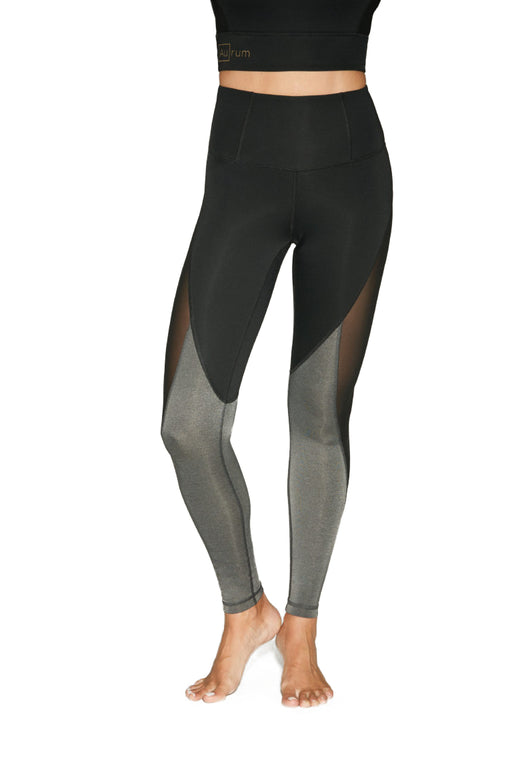 Aurum Serenity Color Block Legging (Black/Charcoal) – Small