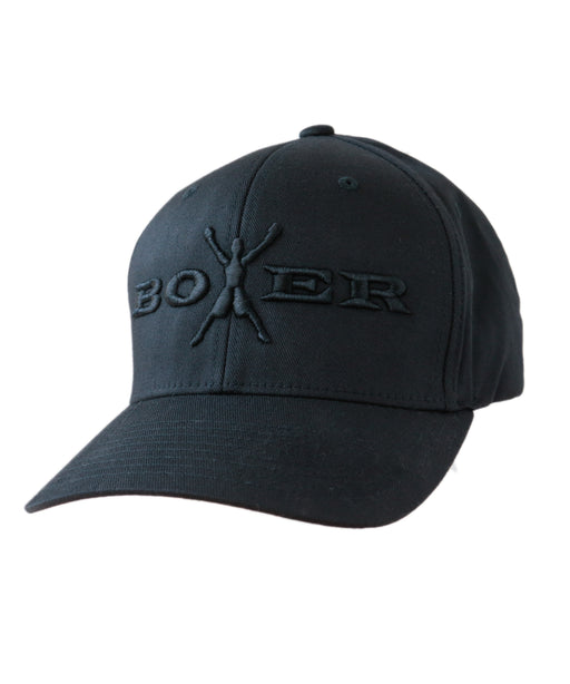 Boxer Men's Flexfit Black on Black Baseball Cap