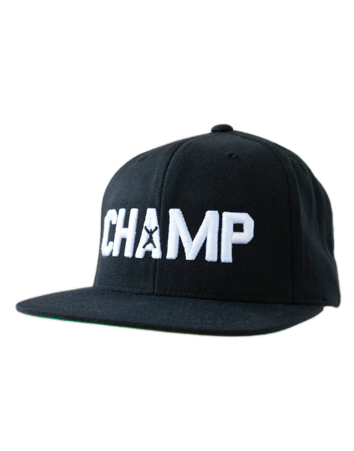 Boxer Men's Adjustable Snapback Black and Green Champ Baseball Cap