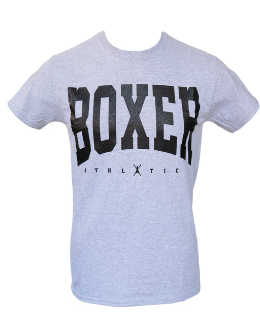 Boxer Men's Athletic Graphic T-Shirt - Grey