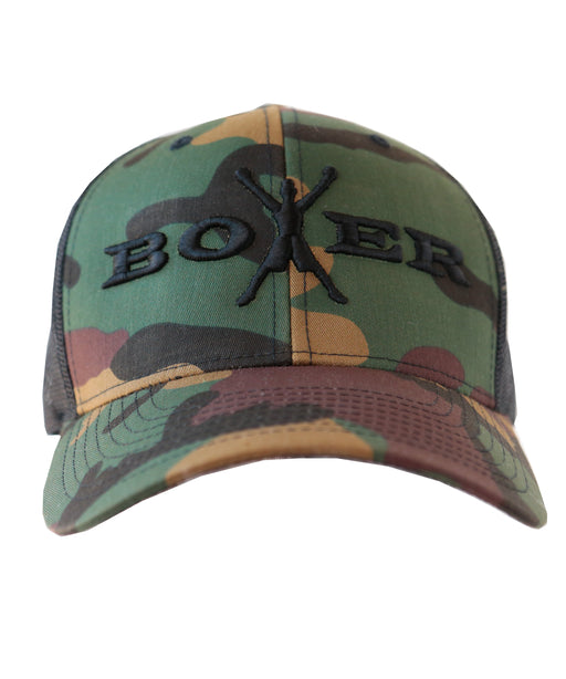 Boxer Men's Adjustable Snapback Camo Baseball Cap