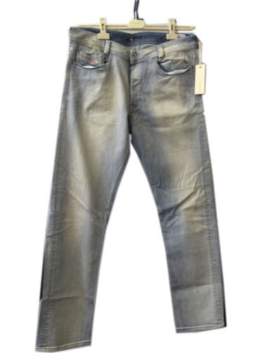 Mens DIESEL Heeven 8LN Straight Leg Blue Denim Jeans Size 32W 32L - SURPLUS CLOTHING  - 1
