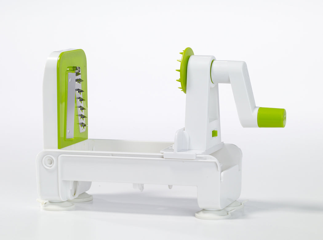 Green and White Starfrit Foldable Spiralizer