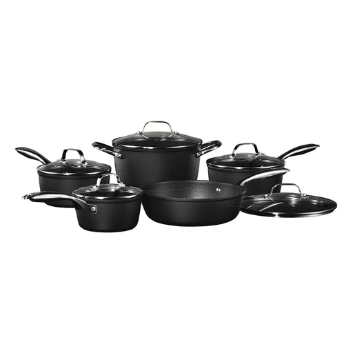 Starfrit The ROCK Diamond 10-Piece Nonstick Cookware Set