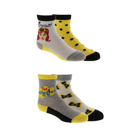 The Wiggles Emma Crew Socks 4-Pack for Toddlers