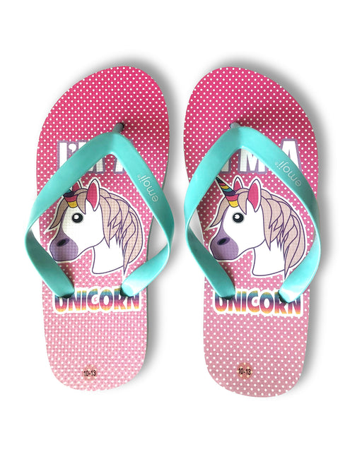 emoji Girls Unicorn Flip Flop Thong Sandals