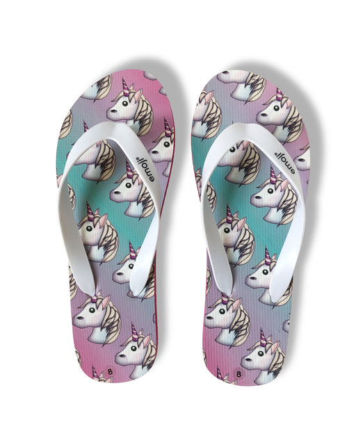 Emoji Women's Flip Flop Thong Sandals - Unicorn