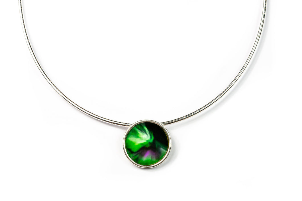 Necklace Sky Northern Light Solid silver with an exclusive omega chain