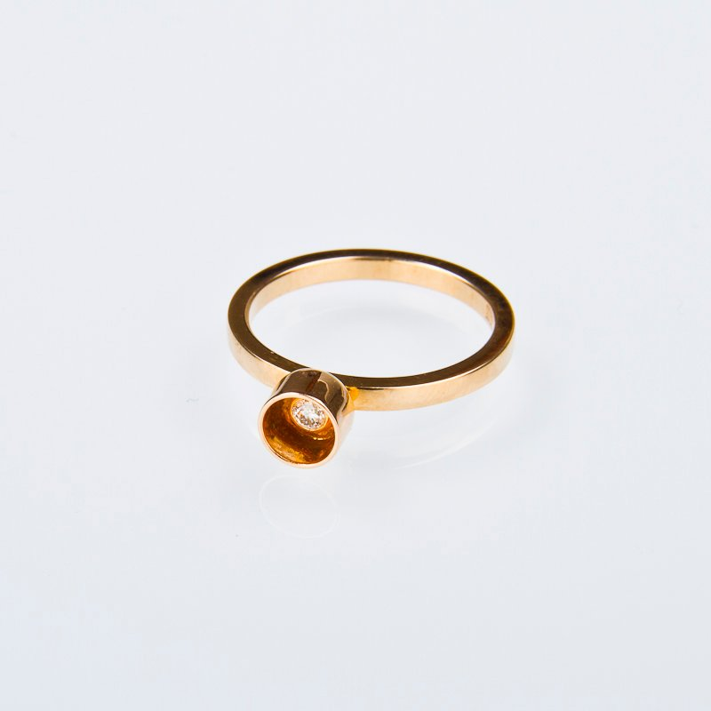 "Guldring ""Morning glory"" 18k rödguld"